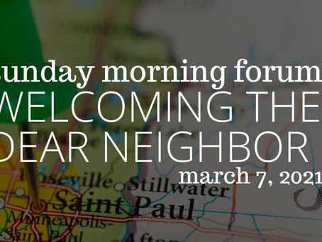Welcoming the Dear Neighbor