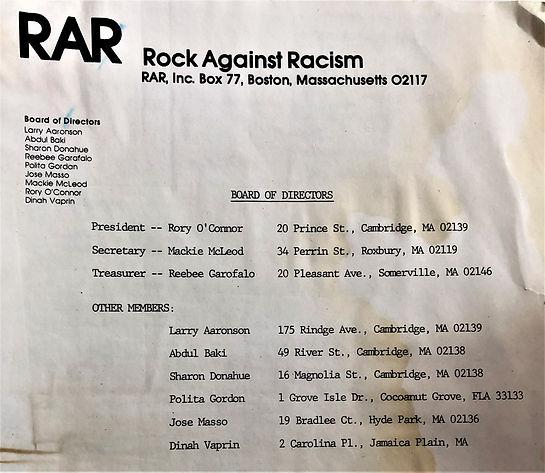 Early 1980s Mass RAR BOD