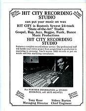 Hit City studio ad Miss Carribean Americ