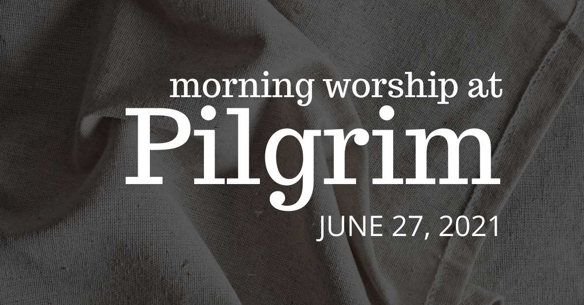 hemmed cloth in folds - outdoor worship on June 27, 2021