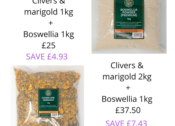 Clivers & Marigold and Boswellia Bundle