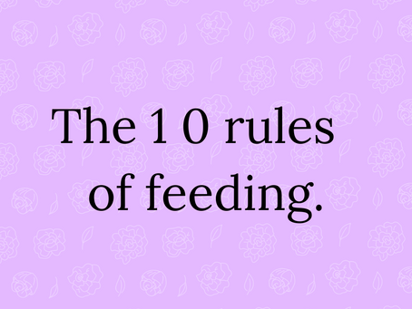 10 Rules of feeding.