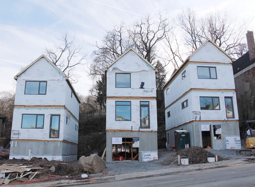 Black Street Construction Update: The houses are officially set!
