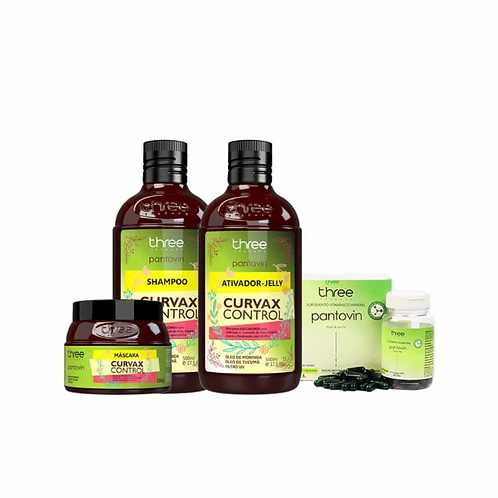 COMBO CURVAX - SHAMP + MASC + ATIV + CAPUSULAS
