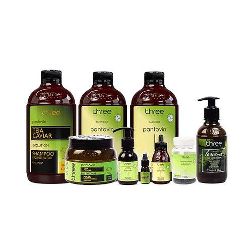 SUPER COMBO Pantovin + Teia Caviar + Finalizadores (9 produtos para tratamento)