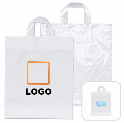 Loop handle plastic bag.