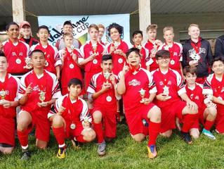 Whitewater U14/15 Boys Team Wins Championship at Strike FC Valentine Cup Tournament