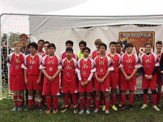 Whitewater U15 Boys Team Earn Second Place at Clash Tournament