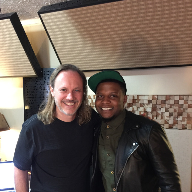 Rob with Jimmy King of the Bruno Mars Band.peg