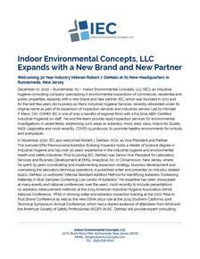 Indoor Environmental Concepts, LLC Expands
