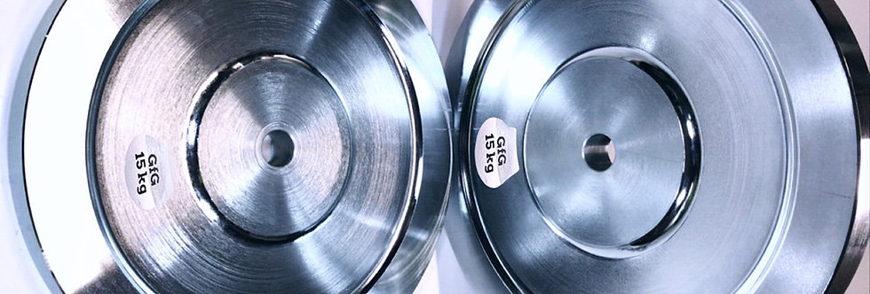 "2 x 15KG 1"" Plated Steel Weight Plates"
