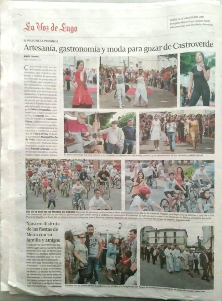La Voz de Galicia 17 Agosto 2015