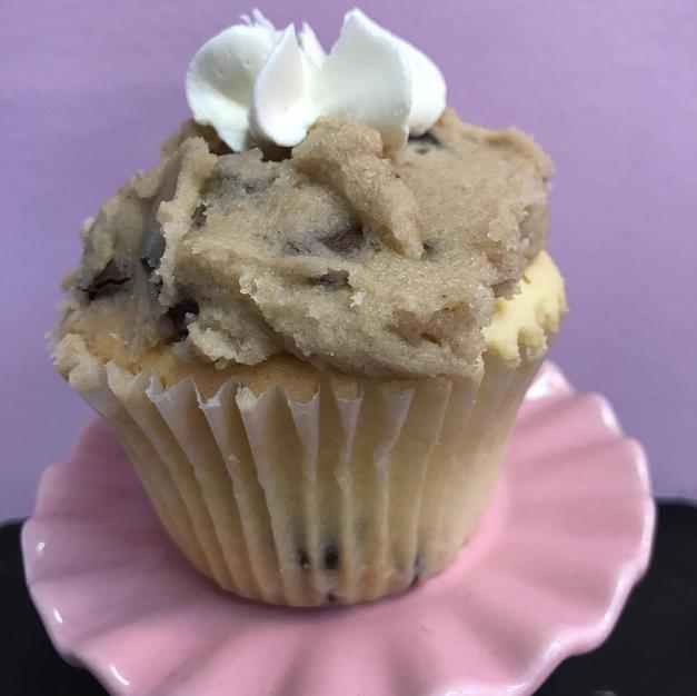 Peanut Butter Cookie Dough Cupcake