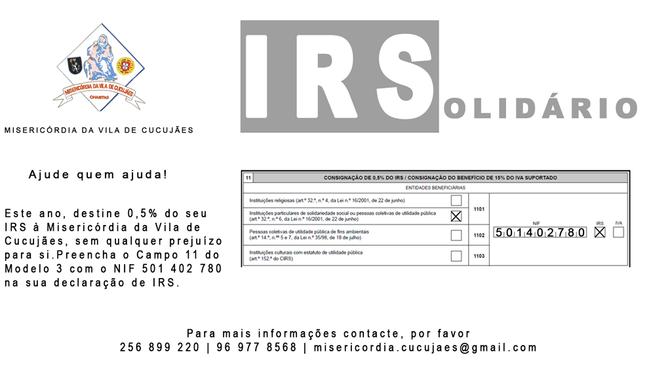 IRSolidário 2017 - Ajude quem Ajuda!