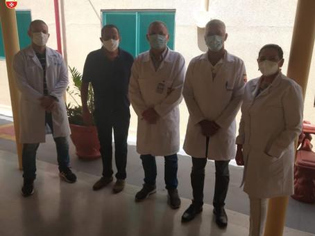 Diretores do Hospital da Polícia Militar General Edson Ramalho visitam Hospital Padre Zé nesta sexta