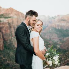 Kylee + Jaxon Zion Bridals