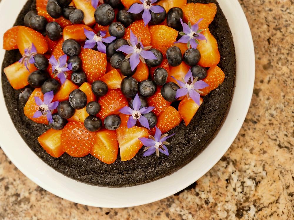 Wheat, Gluten, Dairy and Sugar FREE Chocolate Cake