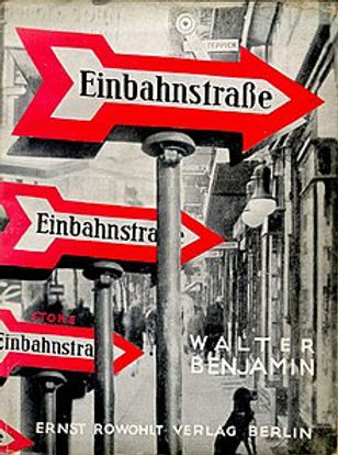 Walter Benjamin, Einbahnstraße, capa da