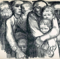Käthe Kollwitz. The mothers (1919)