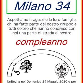 Festeggiamo insieme i 50 anni del Milano 34!