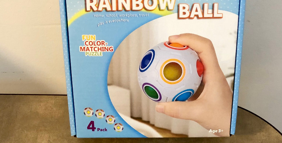 3 and Up: Rainbow Ball Puzzle