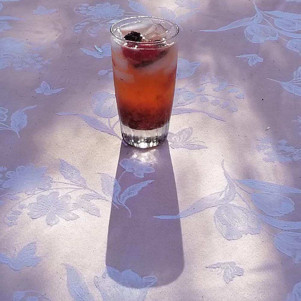 Strawberry serrano soda