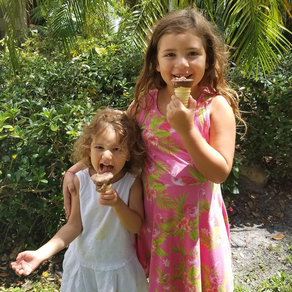 remy and rory enjoying icecream