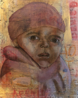 Immigrant Child_Mixed media_16x20in