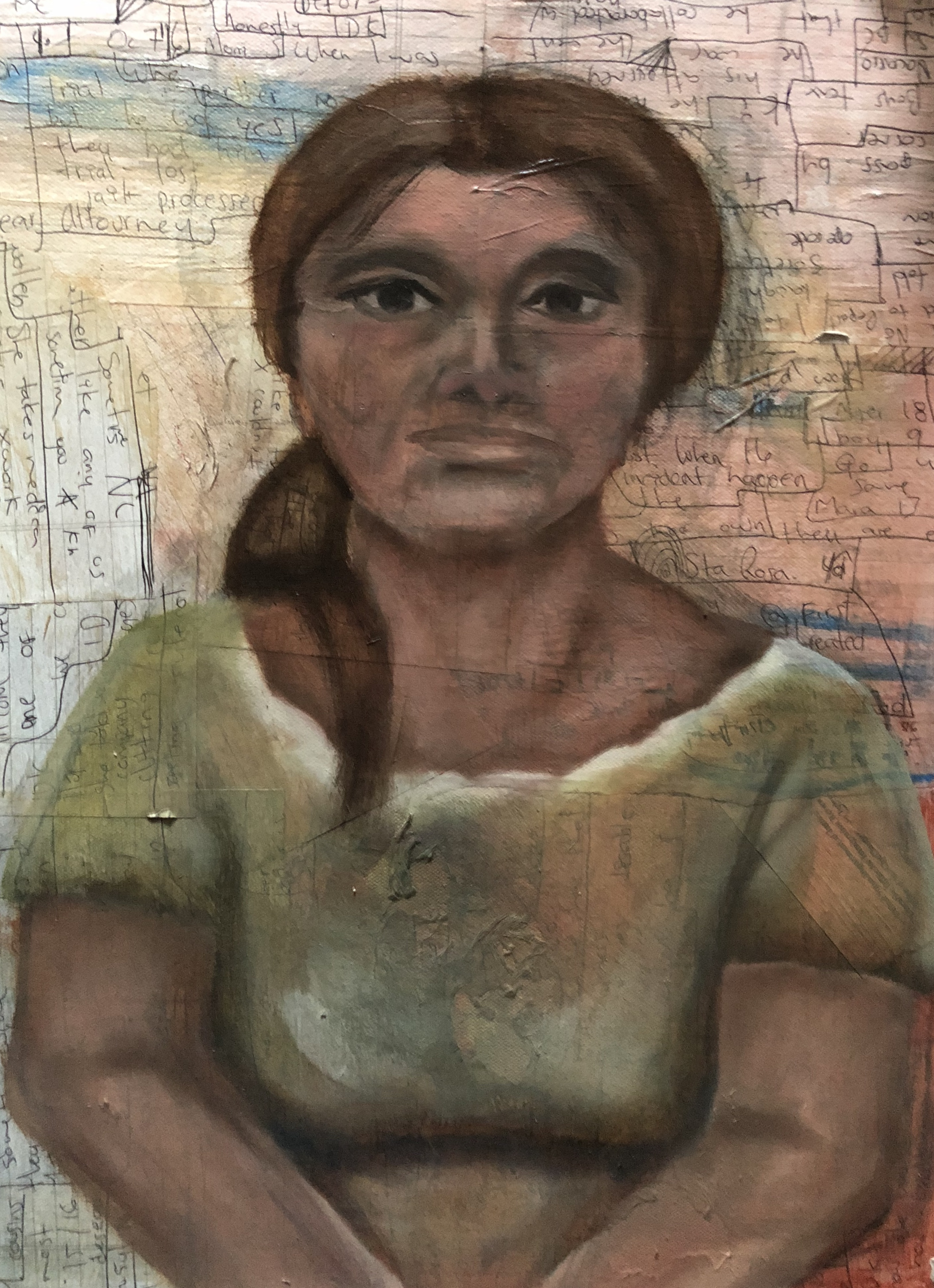 Immigrant Mother_mixed media_16x20in