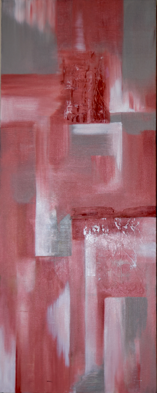 Distant City. 2016. Acrylic on Canvas. 40X16