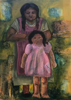 motherhood_mixed media_30x40 in