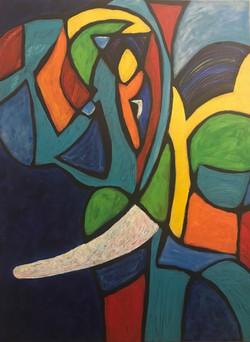 Elephant.36_48.2015.acrylic