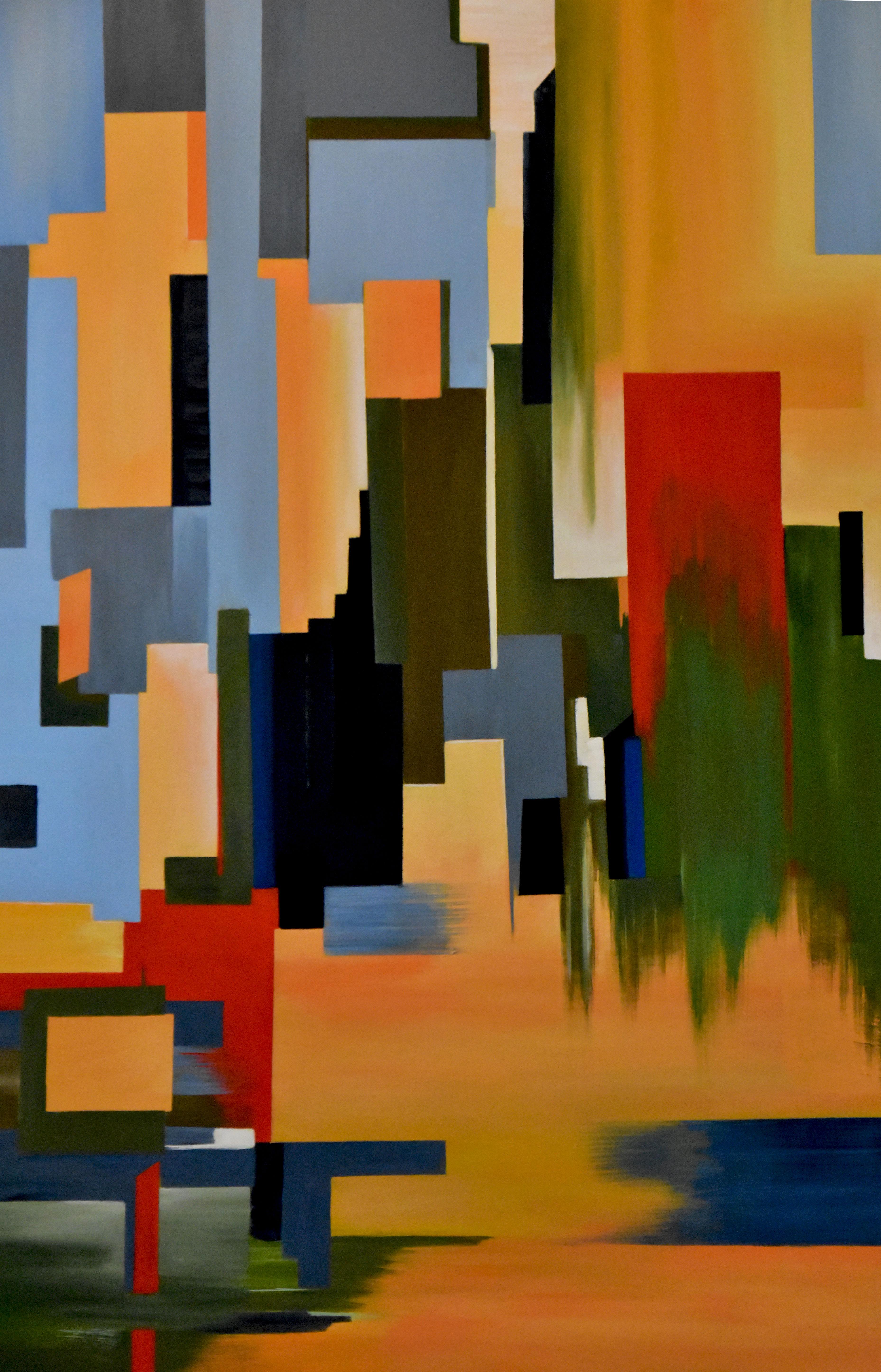 Kaleidoscope City. 2018. Acrylic on Canvas. 30x40 in