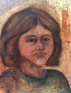 Immigrant girl_Mixed media_16x20in