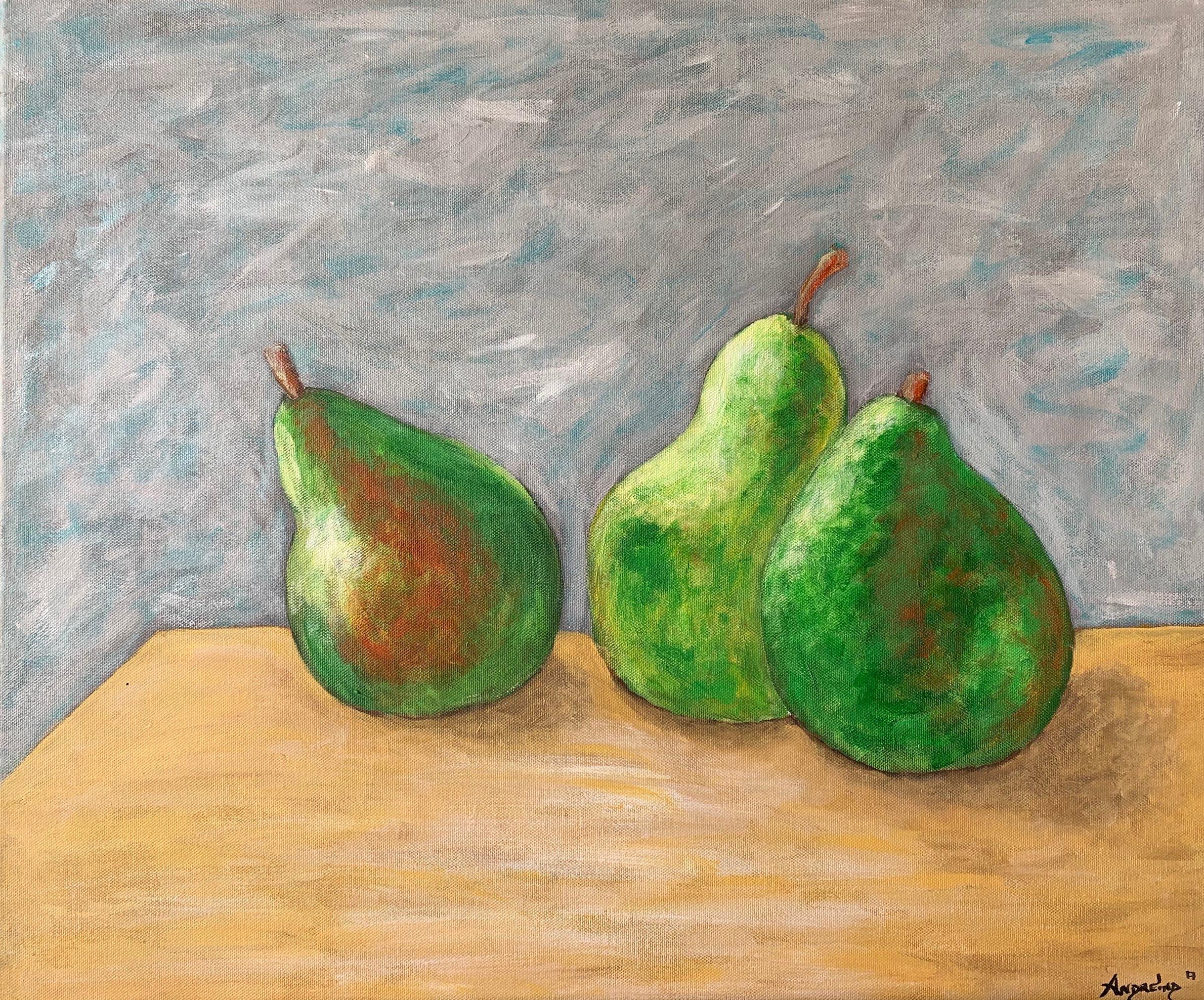 Tres peras I.20_24.2017.acrylic