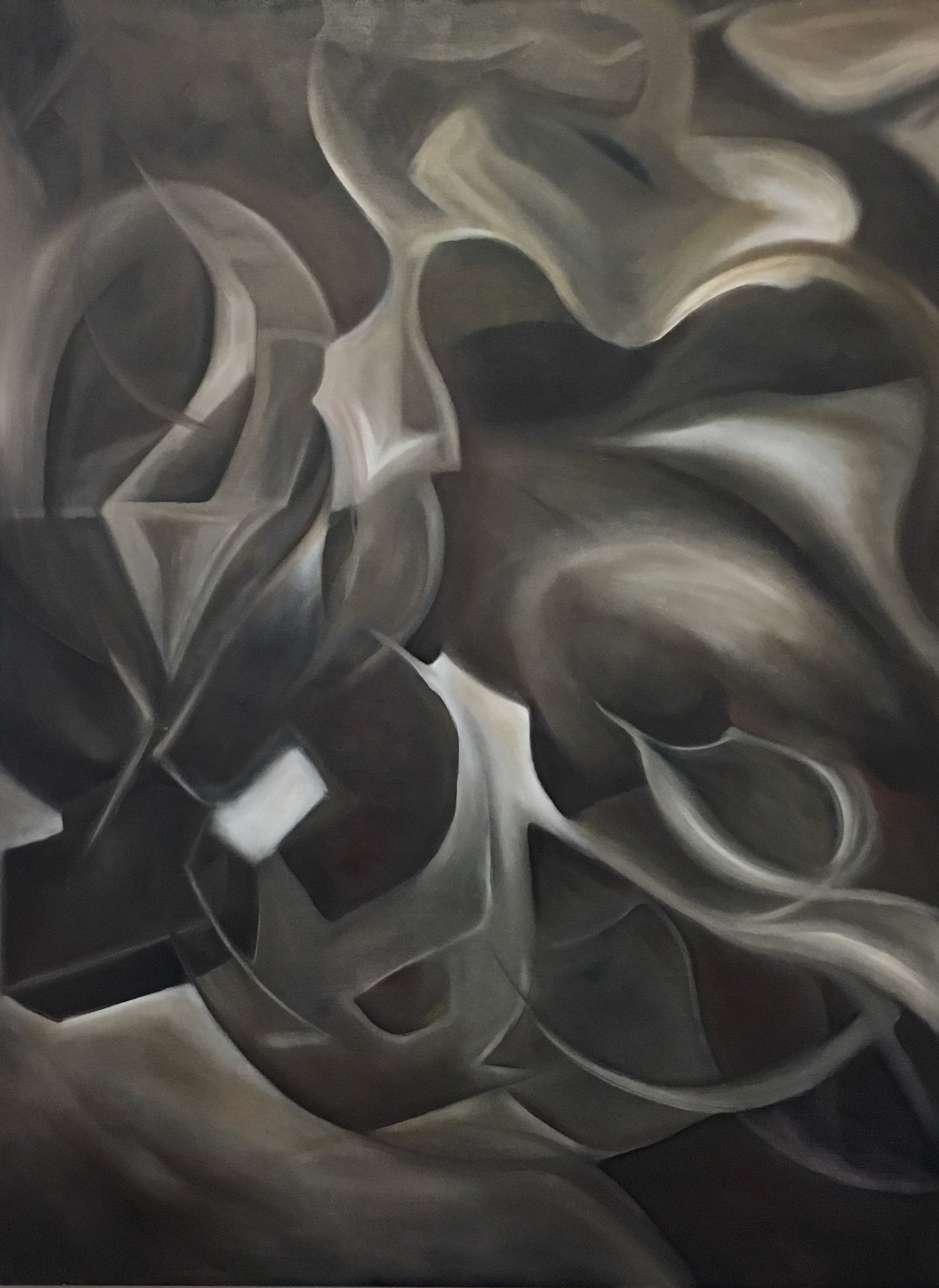 Shadow of Essence. 2018. Oil on Canvas. 3x4 feet