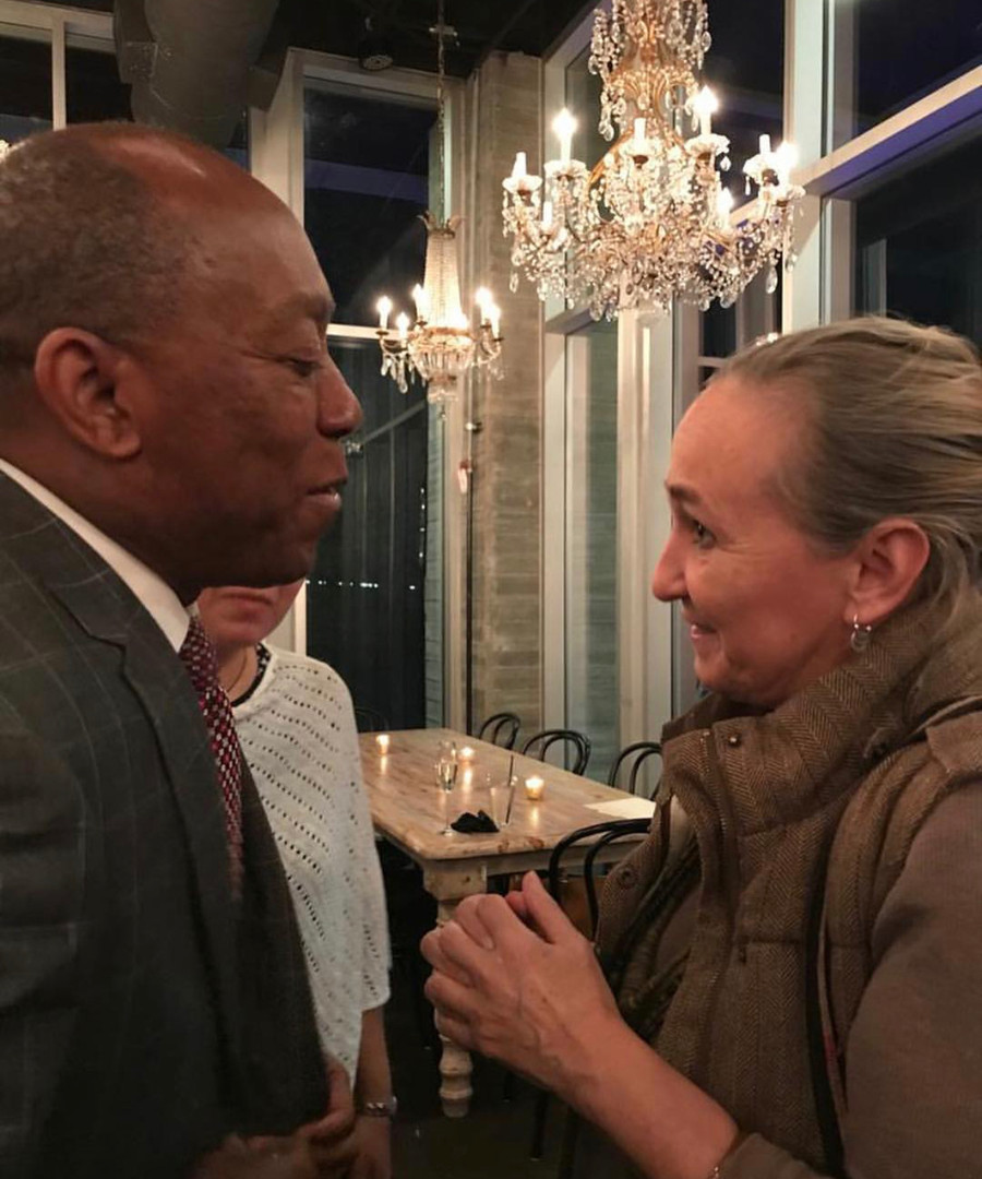 Mayor of Houston Sylvester Turner with Arielle Masson