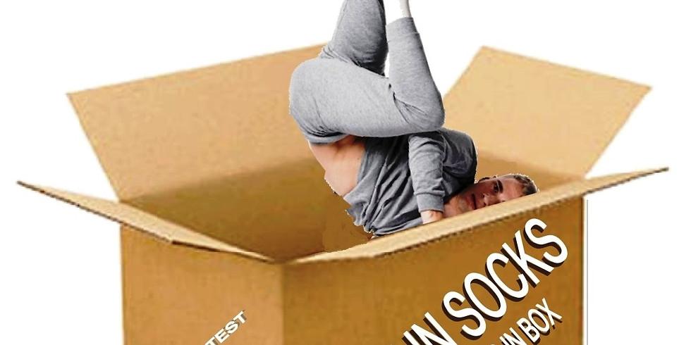 DANCE IN SOCKS AND SOCKS IN THE BOX