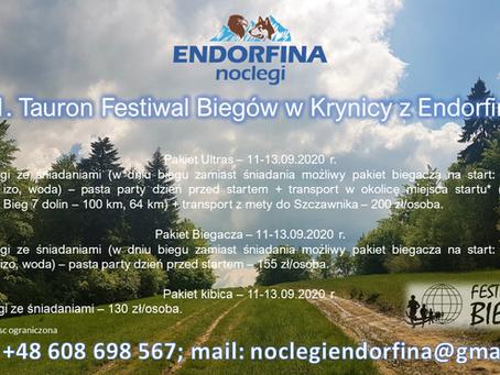 11. Tauron Festiwal Biegowy  w Krynicy 11-13.09.2020 r.