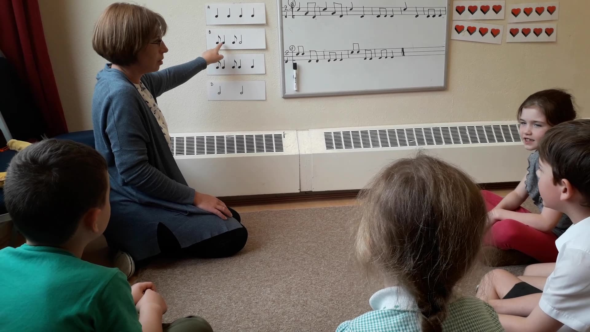 6-7 year olds read syncopated music