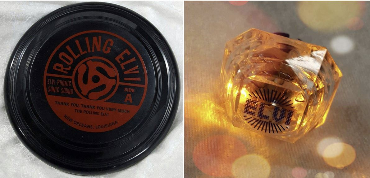 Elvi Frisbee Record and Lite up Diamond Bling Ring
