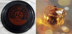 Elvi Frisbee Record and Lite up Diamond Bling Ring