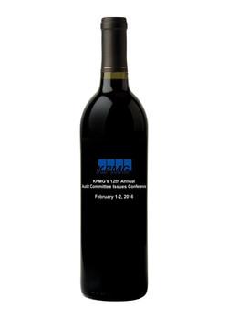 Etched Wine Bottle