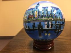 Custom Hand Painted Globe