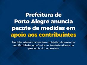 Coronavírus: pacote de medidas em apoio aos contribuintes de Porto Alegre