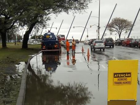 Ação conjunta minimiza transtornos da chuva na Capital