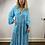 Thumbnail: Boho Leopard Print Maxi Dress Turquoise