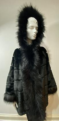 Luxury Faux Fur Hooded Coat