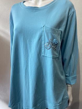 My Bicycle Sweatshirt Eco Cotton Sky Blue