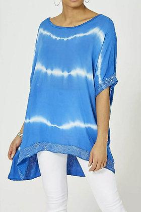 Tie Dye Royal Blue Sequin T-shirt